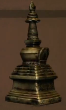 Miniature Bronze Stupa