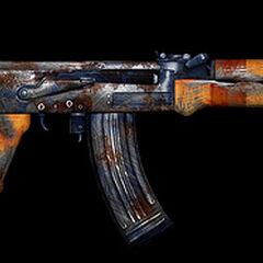 Broń AK-47 piratów