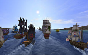 Uncharted-waters-online-cbt ships at sea