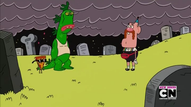 File:Uncle Grandpa, Belly Bag, Mr. Gus, and Pizza Steve in Tiger Trails 7.png