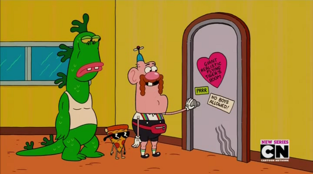 File:Uncle Grandpa, Belly Bag, Mr. Gus, and Pizza Steve in Tiger Trails 29.png