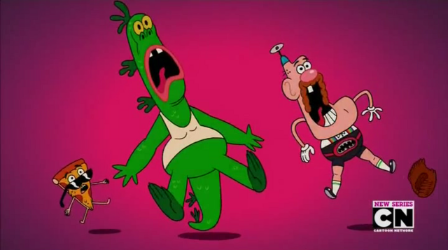 File:Uncle Grandpa, Belly Bag, Mr. Gus, and Pizza Steve in Tiger Trails 13.png