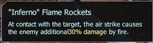 Inferno flame rockets details