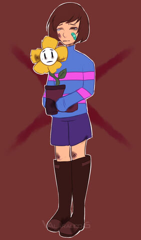 File:Underfell frisk flowey by valarauco 6-d9wsv6l.jpg