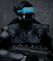 Ace blue visor