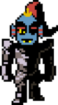 Undyne Overworld armor without helmetX-Tale