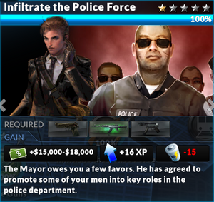 Job infiltrate the police force