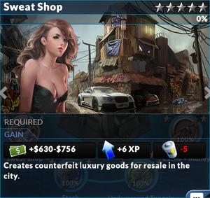 Job sweat shop
