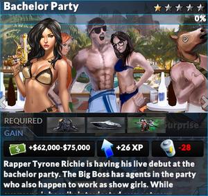 Job bachelor party