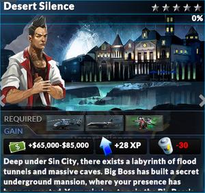Job desert silence