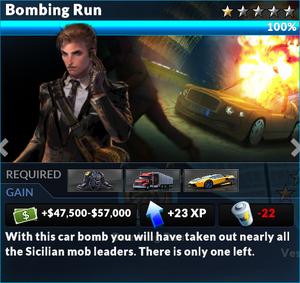 Job bombing run
