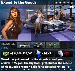 Job expedite the goods