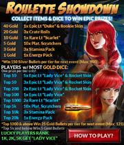 Event roulette showdown rewards