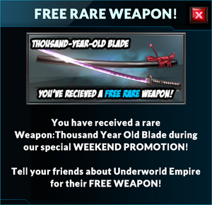 Event thousand year old blade