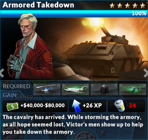 Job armored takedown