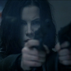 During the subway gun battle.