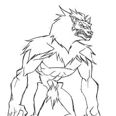 Concept art of a Lycan in <i>Underworld: Endless War</i>.