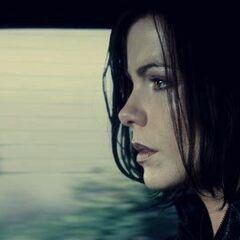Selene, in Sebastian's car as they head over to Antigen.