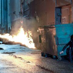 An Antigen guard with a flamethrower.