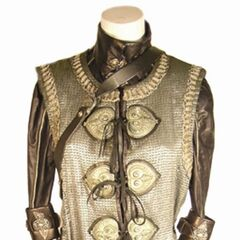 Tanis's screenworn tunic from <i>Rise of the Lycans</i>.