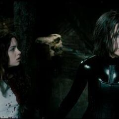 Selene with daughter Eve.