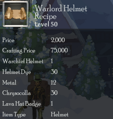 Warlord Helmet Rec
