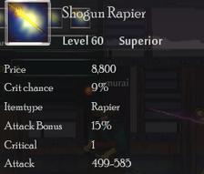 Shogun Rapier