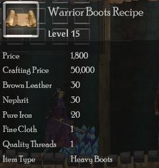 Warrior Boots Rec