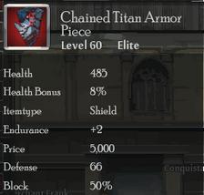 Chained Titan Armor Piece