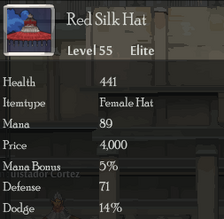 Red Silk Hat