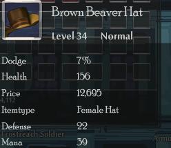Brown Beaver Hat