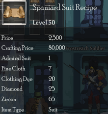 Spaniard Suit Rec