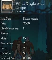 White Knight Armor Rec