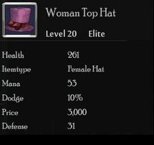 Woman Top Hat