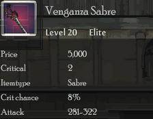 Venganza Sabre
