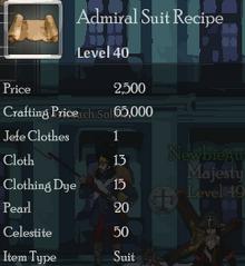 Admiral Suit Rec