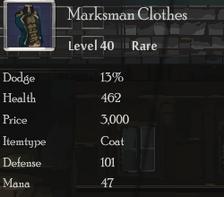 Marksman Clothes