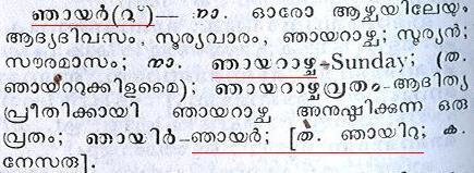 Malayalam-njaayar