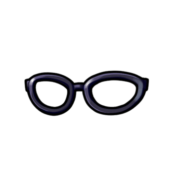 Gear-Black-rimmed Glasses Render
