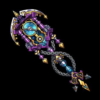 Gear-Kronos' Treasure Staff Render