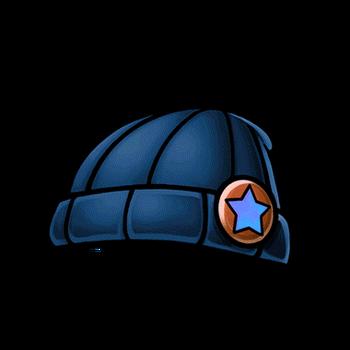 Gear-Blue Knitted Cap Render