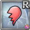 Gear-Red Split Heart Icon