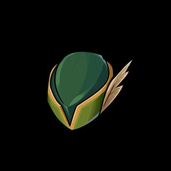 Gear-Plumed Hunter Cap (F) Render