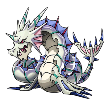 Gear-Serpent Dragon Render