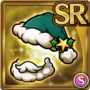 Gear-Green Santa Hat & Beard Icon