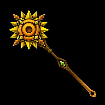 Gear-Sunflower Staff Render
