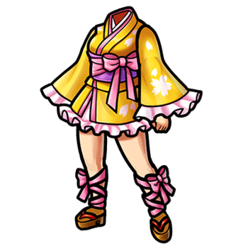 Gear-City Girl's Mini-Yukata Render