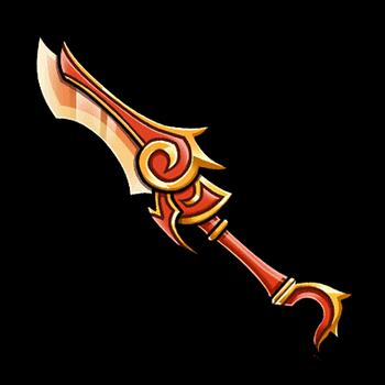 Gear-Flame Sword Render