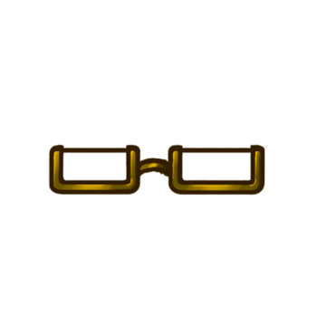 Gear-Gold Half Rim Glasses Render