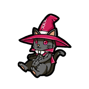 Gear-Black Sorcerer Cat Render
